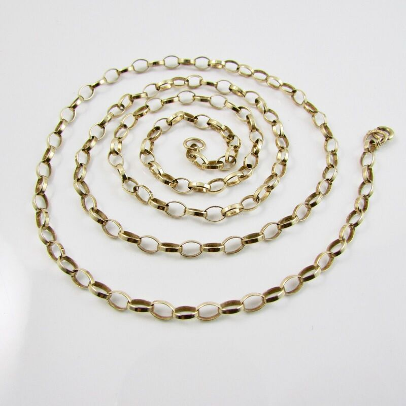 9ct Yellow Gold 375 Belcher Link Necklace 24