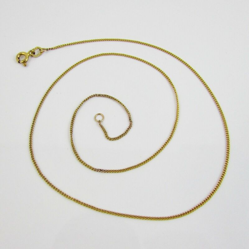 9ct Yellow Gold 375 Curb Link Necklace 16