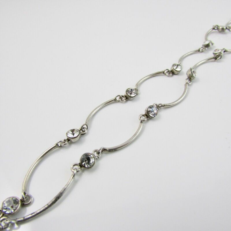 Sterling Silver 925 Crystal Chain 16