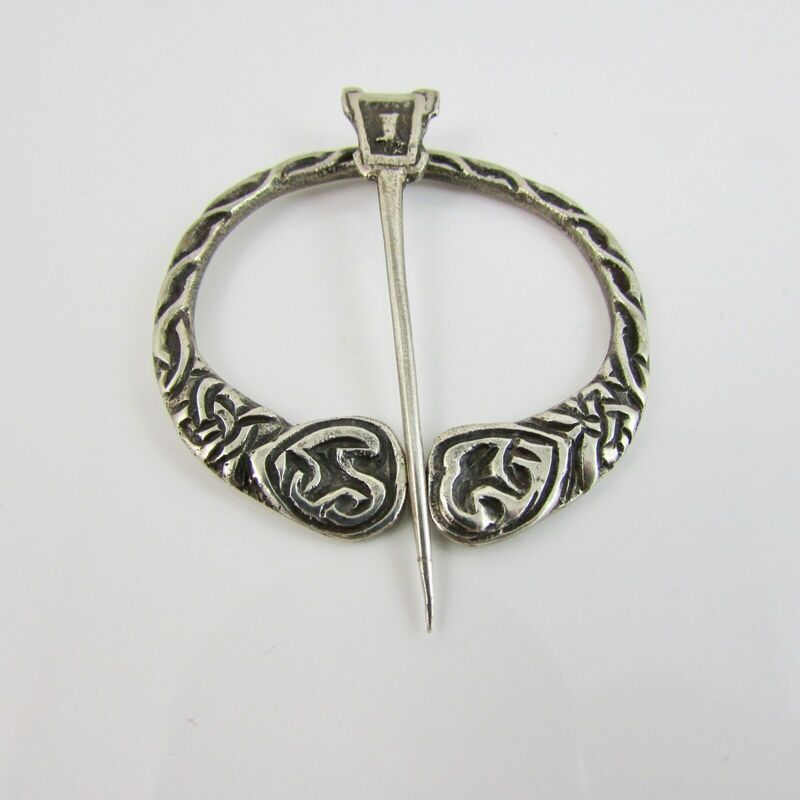 Vintage Silver Celtic Scottish Iona Penannular Plaid Brooch Cook Holland & Co. 2