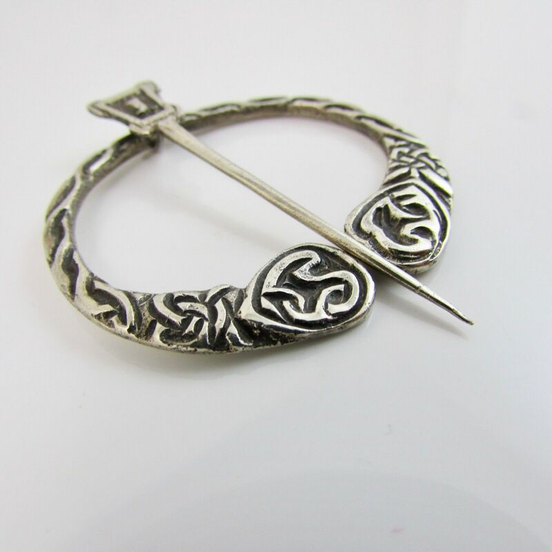 Vintage Silver Celtic Scottish Iona Penannular Plaid Brooch Cook Holland & Co. 1